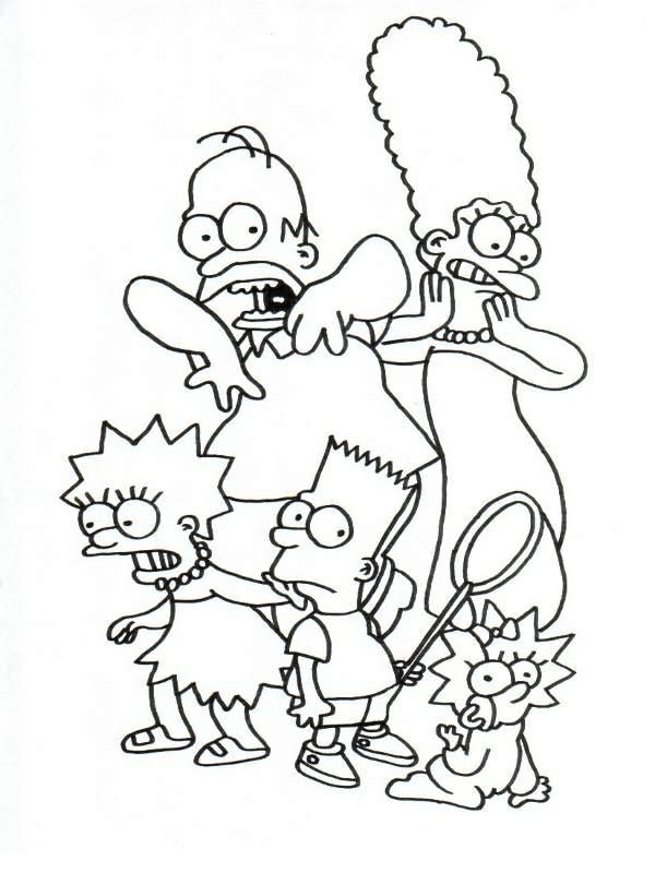 Pintando Y Coloreando Dibujos Animados De Los Sipmpson
