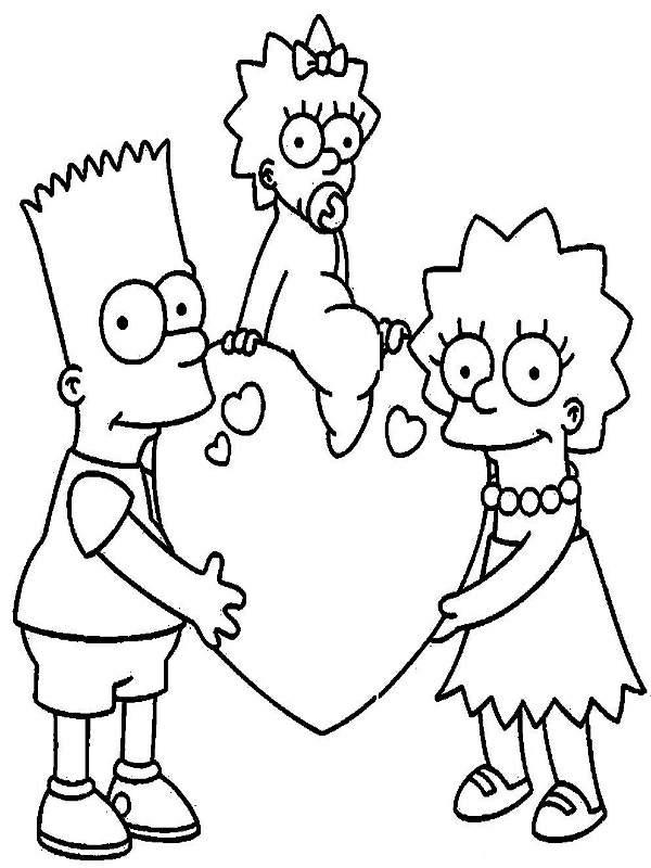Dibujos Animados Para Colorear de Los Simpson /los-simpson-para ...