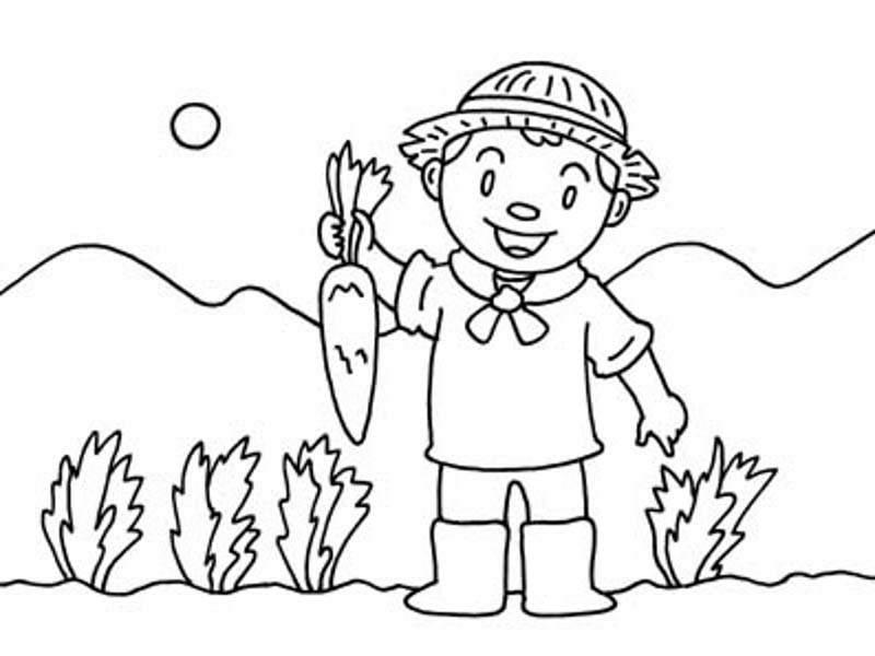 Dibujos de agricultura para colorear - Imagui