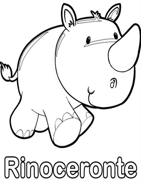 Encantador Páginas Para Colorear De Animales Bebés Para Imprimir ...