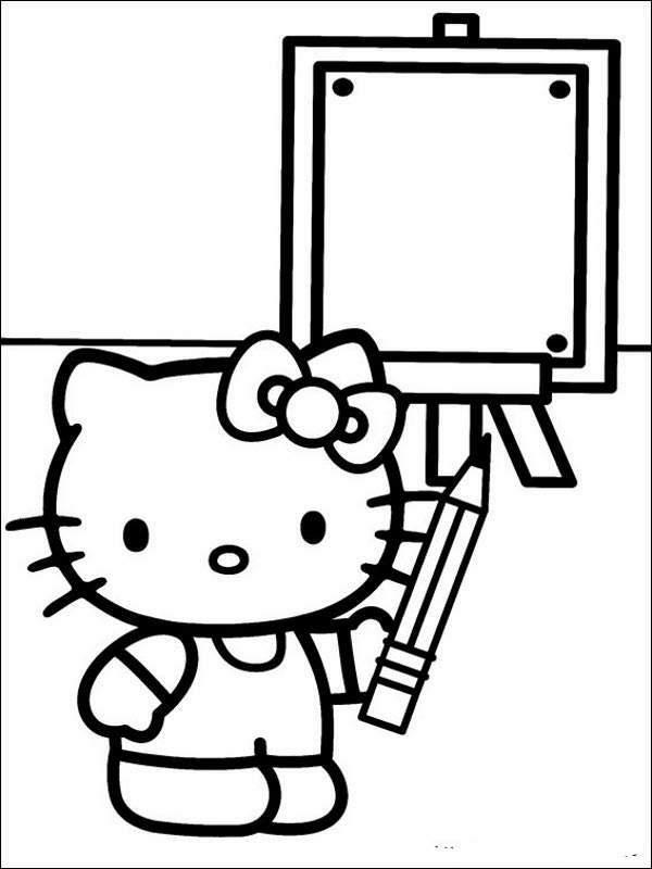 Pintando Y Coloreando Dibujos De Helo Kitty Animados
