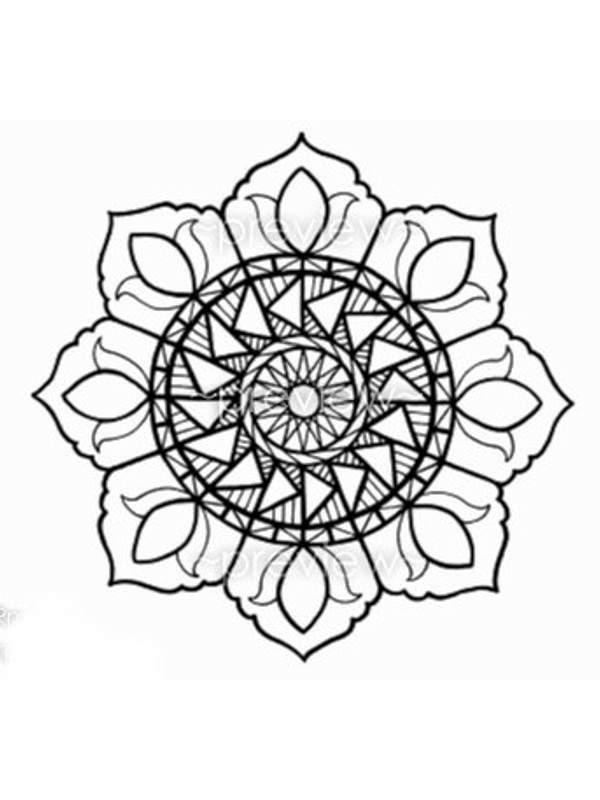 Pintando y coloreando mandalas con flores