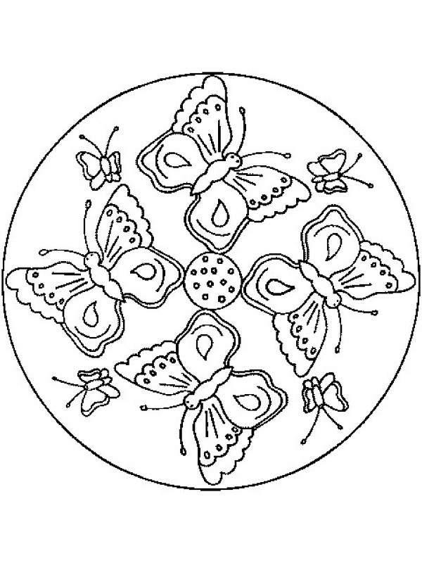 Pintando y coloreando mandalas con insectos