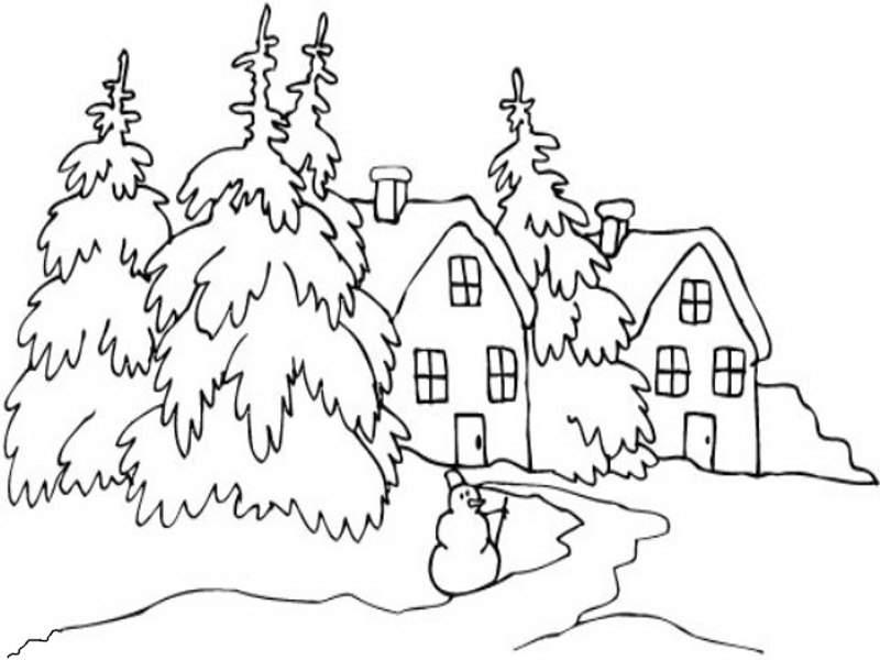 Pintando y coloreando dibujos de paisajes