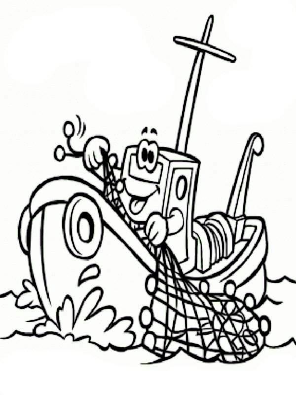 Pintando y coloreando postales de pesca