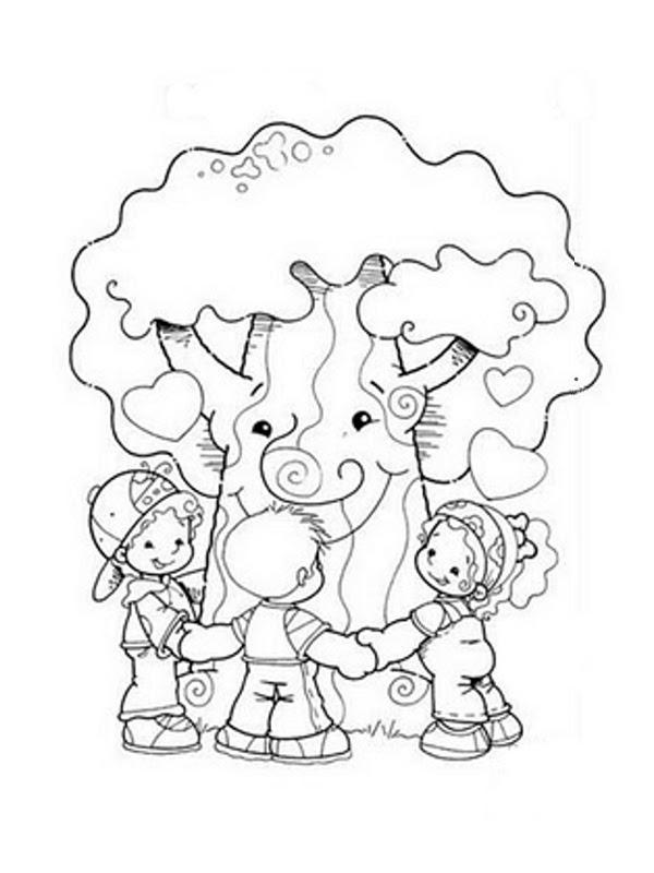 Lujoso Páginas Para Colorear árboles Para Niños Galería - Dibujos ...