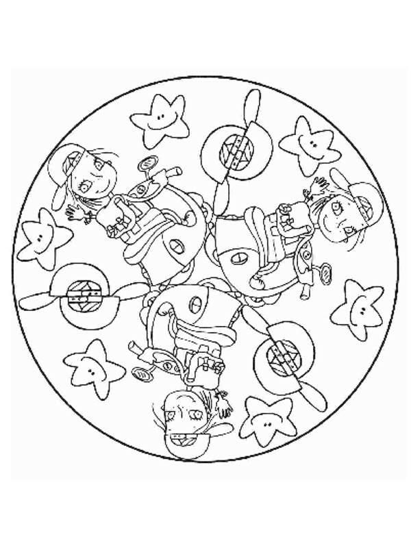 Pintando Coloreando Motivos Mandalas Para Niños Y Con MSUzVp